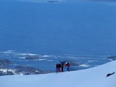 Meer im Rücken (Globo Alpin) Tags: lofoten norwegen skitouren winter 2017 skiflugreisen ausland wsf0019
