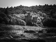 Refuge from the chaos (m barraclough) Tags: canonpowershot canon blackwhite skye scotland castle
