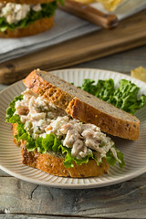 Homemade Healthy Chicken Salad Sandwich (brent.hofacker) Tags: appetizer bread chicken chickensalad chickensaladsandwich cream deli delicious diet dinner eating food fresh freshness gourmet green grilled healthy healthyeating lettuce lunch mayo mayonnaise meal meat nutrition organic pickle plate portion poultry salad salty sandwich snack summer tasty toast vegetable whitemeat