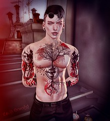 Vengeance will be mine... (Orguss) Tags: stealthic catwa catwadaniel goth redfish avatar secondlife