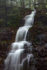 Unnamed ephemeral waterfall near Sunset Rock on Highway 70, White County, Tennessee 2 (Chuck Sutherland) Tags: ephemeral waterfall falls watersunsetrock highway70 whitecounty tennessee tn