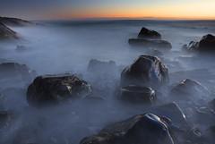 Misty Rocks Morning || Caberita Sunrise (edwinemmerick) Tags: ocean longexposure sea seascape beach water sunrise canon coast dos 7d slowshutter coastline edwin emmerick edwinemmerick