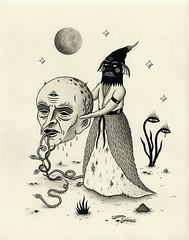 """""""Harbinger of Fear"""" (Crispy Copper) Tags: art ink portland drawings pdx fecalface"""