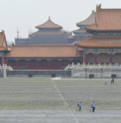 Forbidden City, Beijing, China (fame&obscurity) Tags: china old history scale square ancient pillar columns perspective beijing tiles paving historical column forbiddencity pillars ming sweep vastness qingdynasty sweeping paved sweeper qing vast mingdynasty oldchina ancientchina