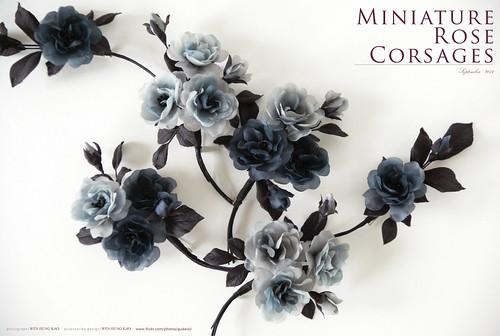 灰色系迷你玫瑰胸花花飾