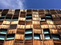 (retrokatz) Tags: wood blue architecture melbourne rmitbrunswickcampus