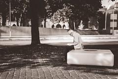 just someone reading a book [explored]. (hallomats.de) Tags: street photography g hamburg 18 fx 50 d600