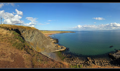 Kincraig Hill (K-Burn) Tags: panorama beach evening fife northberwick elie firthofforth bassrock shellbay eastneuk forthestuary earlsferry kincraigbattery