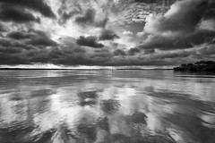 Low Clouds (chibitomu) Tags: lake reflection nature japan clouds canon landscape     kasumigaura ibaraki  canonef1740f4lusm    5dmarkiii chibitomu namegatashi
