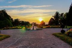 Couch de soleil - Limoges (Johann H) Tags: sunset fleurs arbres fontaine parc couchdesoleil limoges