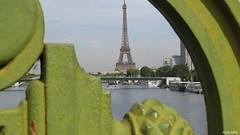 sous le pont Mirabeau coule la Seine  ..... (cadmanilameer) Tags: street city bridge paris seine canon river toureiffel pont rue ville fleuve statuedelalibert canonsx50