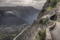 Road to Nowhere (perkster24) Tags: road mountain france spectacular landscape cycling borg vista tourdefrance hdr frenchalps landscapephotography doisans