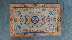 Chinese rug carpet cross stitch embroidered by me dollhouse miniatures 1:12 (Karin Riper († 24 April 2015)) Tags: carpet miniatures crossstitch needlework handmade linen embroidery chinese fabric displays stitching rug 112 dmc dollhouse settings roombox miniatureembroidery miniaturerug miniatureneedlework miniaturecarpet karinriper