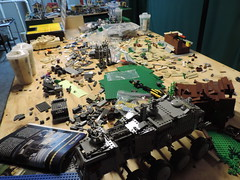 My workspace....... (501st Productions) Tags: 2 6 3 work star 1 lego 5 space 4 workspace wars swag obama iphone brickarms brickmania