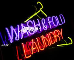 Wash & Fold (Jeremy Brooks) Tags: sanfrancisco california usa neon laundry laundromat hanger ampersand sanfranciscocounty