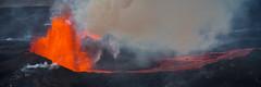 Fountain of fire (Explored) (Benedikt Halfdanarson) Tags: volcano lava iceland eruption sland hraun volcaniceruption eldgos brarbunga icelandicvolcano bardarbunga holuhraun