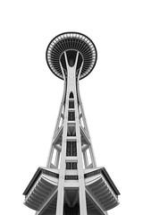 Space Needle (=ROB=) Tags: seattle usa monochrome architecture highkey