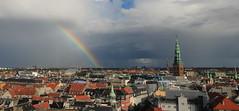 Copenhagen Rainbow (PeskyMesky) Tags: storm rain skyline canon copenhagen denmark rainbow rundetårn canoneos500d
