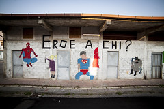 Street art in Sapri (Agugiaro | PHOTOGRAPHY) Tags: city italy streetart spiderman superman batman heroes superheroes murales paints sapri cilento