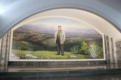 Kim Jong-il mural Yonggwang  Station Pyongyang Metro (Ray Cunningham) Tags: station underground subway kim metro glory pyongyang jongil  yonggwang