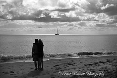 Lovers and Dreams (slaup) Tags: beach clouds waves yacht lovers dreaming embrace