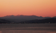 Sunset north east of Wellington (imajane) Tags: sunset orange cropped petone 2014 copthorne portnicholson imajane rimutakahillsinthebackground dsc1218sunsetnortheastofwellington