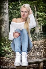 Vaida ... (sparkeyb) Tags: woman beautiful beauty lady woodland model nikon longhair jeans blonde jumper fullframe fx essex f28 colchester strobe speedlite vaida d610 2870mm offcameraflash strobist radiotriggers yongnuo sb700 highwoodspark rf603n sparkeyb