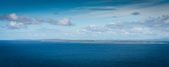 Aran Islands viewed from Cliffs of Moher - County Claire Ireland (mbell1975) Tags: ocean from county blue ireland sea irish west water landscape islands bay coast landscapes claire europe clare north eu an irland eire cliffs na atlantic co westcoast aran moher irlanda irlande viewed éire aillte poblacht airlann mhothair héireann