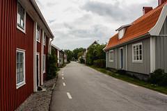 Street in Sandhamn (Sara@Shotley) Tags: road street houses red sweden roofs sandhamn skane june2012
