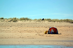 Lonely Tent (mb_14_uk) Tags: camping sky beach scotland sand solitude alone tent canvas lone