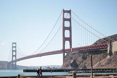 A Casual Walk (chrisroach) Tags: sanfrancisco bridge water bay goldengate horseshoebay