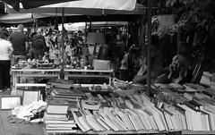 Books in Monastiraki, Athens (drewstefgr) Tags: city bw downtown sony sunny cybershot books center athens monastiraki rx100 greekphotographers sonyrx100
