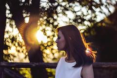 (B r i l l u) Tags: light sunset sun girl hair twilight tramonto bokeh flare shooting luce vento ragazza capelli