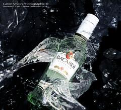 Bacardi Splash (CastleVision Photographic) Tags: ice water bottle sb600 splash bacardi speedlight d7000