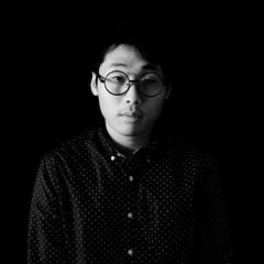 One-Way Prospect (self portrait) (YunDaniel166) Tags: blackandwhite selfportrait man asian glasses selfie roundglasses