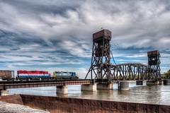 Yup, A Choo Choo Picture.jpg (Milosh Kosanovich) Tags: railroadbridge barge