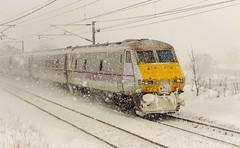 DVT.Snow ~ 2.12.10 (deltic17) Tags: snow storm weather train blizzard eastcoast mkiv hst dvt eastcoastmainline mark4 class91 lowvisibilty