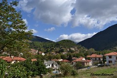 (Eleanna Kounoupa) Tags: sky plants nature weather clouds landscape village greece peloponnese     kalavryta