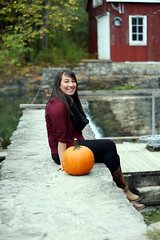3C6A6309 (Cassandrajade) Tags: autumn portrait ontario color colour fall leave mill colors girl beautiful smile leaves lady female portraits canon pumpkin happy leaf october pretty colours happiness niagara falls selftaught portraiture kayla morningstar decew morningstarmill