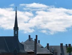 Spire and chimneys (sharon'soutlook) Tags: roof chimney church clouds cincinnati spire blueskies roofline