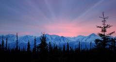 Doolittle's Birthday Sunset . . . (JLS Photography - Alaska) Tags: pink sunset sky mountain mountains alaska skyline america landscape landscapes scenery outdoor sunsets mountainpeaks alaskalandscape jlsphotographyalaska