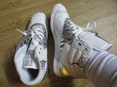 Reebok Freestyle High with fat white sox ;) (sneakcollector) Tags: sneakers sneaker rfh reebok