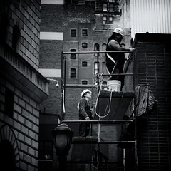 [From the Series: New York City] (funky_koala) Tags: street new york nyc building worker