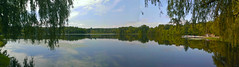 Buhl Lake (Larry the Biker) Tags: park summer lake reflection water glass michigan bluesky september addisontownship addisonoakscountypark