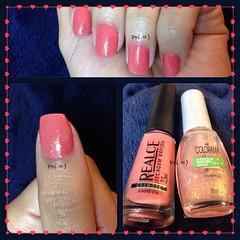 Outubro Rosa (Pri =D) Tags: rosa nails nailpolish unha jurerê esmalte colorama realce melindrosa flocado outubrorosa