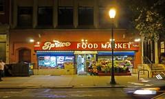 Philadelphia, PA Spruce Market (army.arch) Tags: city food philadelphia sign night photography neon market pennsylvania pa spruce