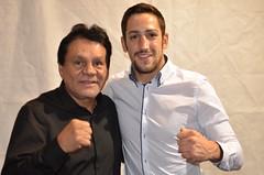 Roberto Duran in Bristol with boxer Danny Butler (sophie_merlo) Tags: sport boxer boxing robertoduran dannybutler