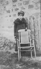 Portrait of a lady with chair 1920's (Bury Gardener) Tags: uk 1920s blackandwhite bw vintage oldies
