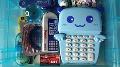 Box of Innocence (sourceperrier) Tags: bear blue school color detail pen pencil japanese wings box eraser bap sanrio plastic calculator stationery lead pentel kpop takochu