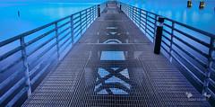 Path (cylynex) Tags: nyc longexposure blue water pier nj weehawken